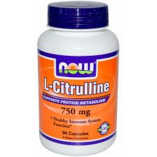 NOW Citrulline 750 мг 90 капс