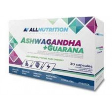 AllNutrition Ashwaganda+Guarana 30 капс